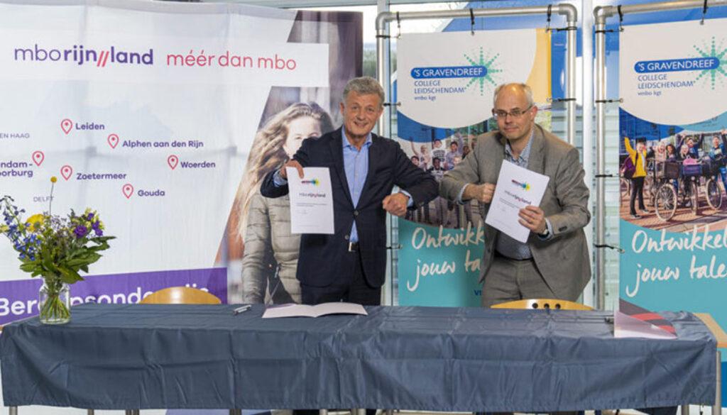 Ondertekening-samenwerking-mboRijnland-Spinoza